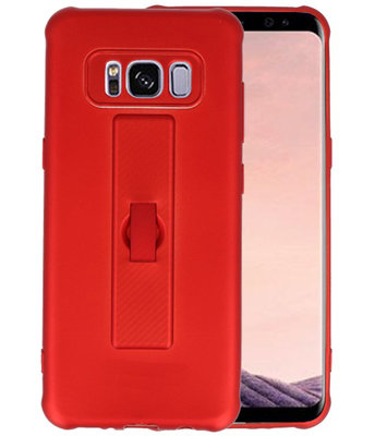 Rood Carbon serie Zacht Case hoesje voor Samsung Galaxy S8