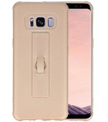 Goud Carbon serie Zacht Case hoesje voor Samsung Galaxy S8