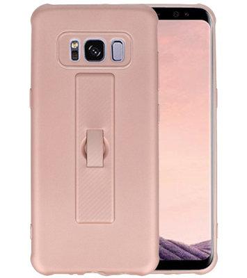 Roze Carbon serie Zacht Case hoesje voor Samsung Galaxy S8