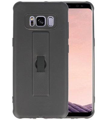 Zwart Carbon serie Zacht Case hoesje voor Samsung Galaxy S8