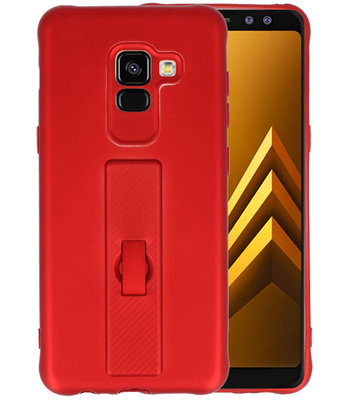 Rood Carbon serie Zacht Case hoesje voor Samsung Galaxy A8 2018
