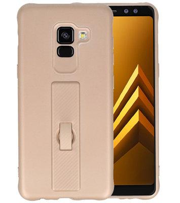 Goud Carbon serie Zacht Case hoesje voor Samsung Galaxy A8 2018