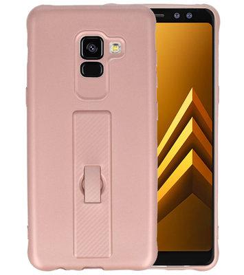 Roze Carbon serie Zacht Case hoesje voor Samsung Galaxy A8 2018