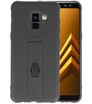 Zwart Carbon serie Zacht Case hoesje voor Samsung Galaxy A8 2018