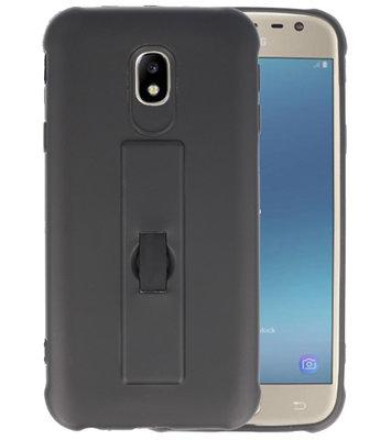 Zwart Carbon serie Zacht Case hoesje voor Samsung Galaxy J3 2017