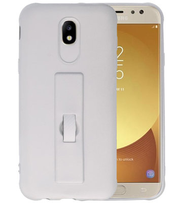 Zilver Carbon serie Zacht Case hoesje voor Samsung Galaxy J5 2017