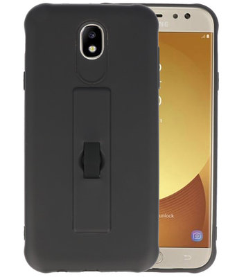 Zwart Carbon serie Zacht Case hoesje voor Samsung Galaxy J7 2017 / Pro
