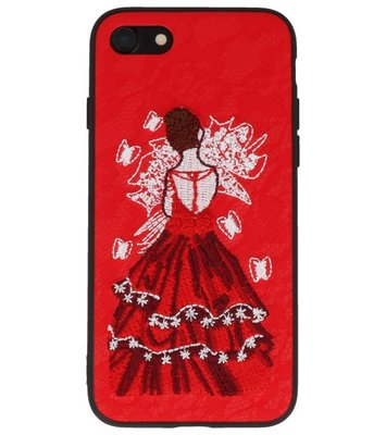 Rood Chinees Borduurwerk TPU back case hoesje voor Apple iPhone 7 / 8