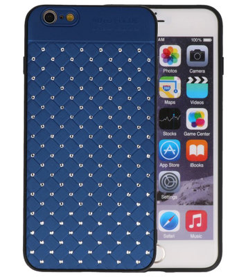 Blauw Diamand Geweven hard case hoesje voor Apple iPhone 6 Plus / 6s Plus