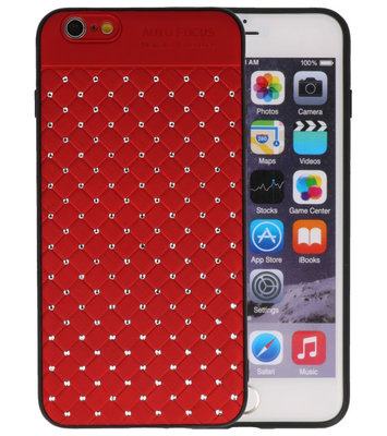 Rood Diamand Geweven hard case hoesje voor Apple iPhone 6 Plus / 6s Plus