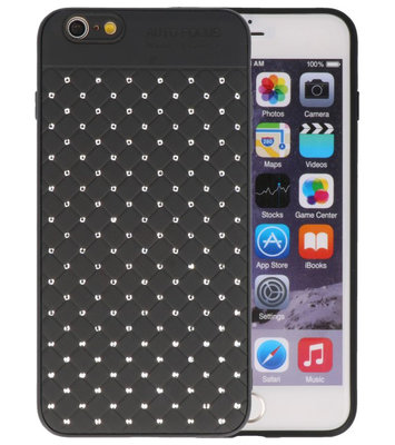 Zwart Diamand Geweven hard case hoesje voor Apple iPhone 6 Plus / 6s Plus