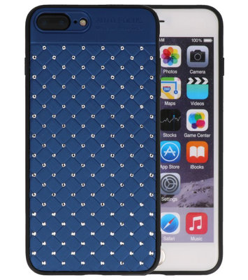 Blauw Diamand Geweven hard case hoesje voor Apple iPhone 7 Plus / 8 Plus
