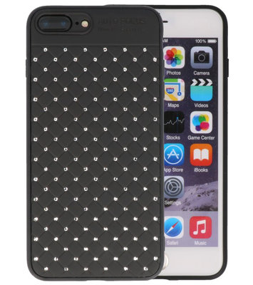 Zwart Diamand Geweven hard case hoesje voor Apple iPhone 7 Plus / 8 Plus