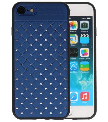 Blauw Diamand Geweven hard case hoesje voor Apple iPhone 7 / 8