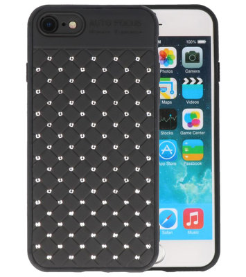 Zwart Diamand Geweven hard case hoesje voor Apple iPhone 7 / 8