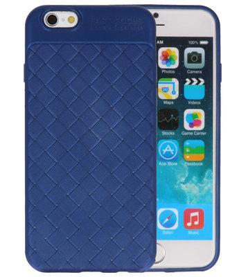Blauw Geweven TPU case hoesje voor Apple iPhone 6 / 6s