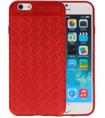 Rood Geweven TPU case hoesje voor Apple iPhone 6 / 6s
