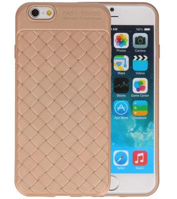 Goud Geweven TPU case hoesje voor Apple iPhone 6 / 6s
