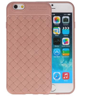 Roze Geweven TPU case hoesje voor Apple iPhone 6 / 6s