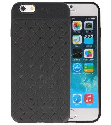 Zwart Geweven TPU case hoesje voor Apple iPhone 6 / 6s