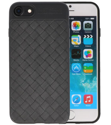 Zwart Geweven TPU case hoesje voor Apple iPhone 7 / 8
