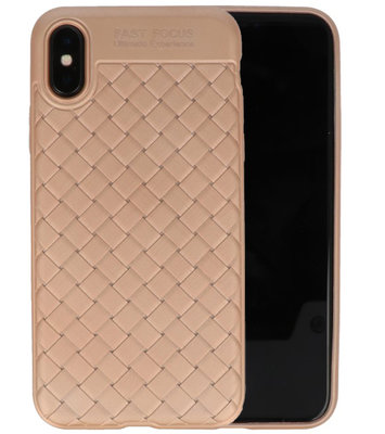 Goud Geweven TPU case hoesje voor Apple iPhone X