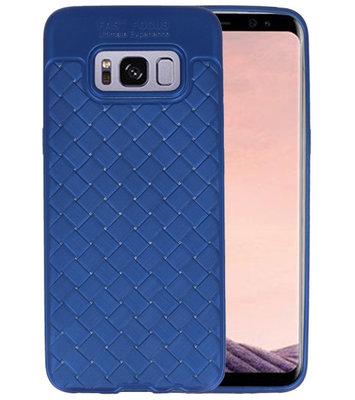 Blauw Geweven TPU case hoesje voor Samsung Galaxy S8