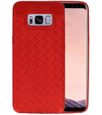 Rood Geweven TPU case hoesje voor Samsung Galaxy S8
