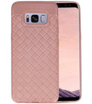 Roze Geweven TPU case hoesje voor Samsung Galaxy S8