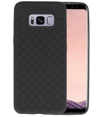 Zwart Geweven TPU case hoesje voor Samsung Galaxy S8