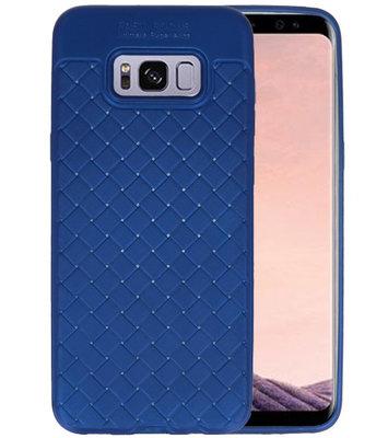 Blauw Geweven TPU case hoesje voor Samsung Galaxy S8 Plus
