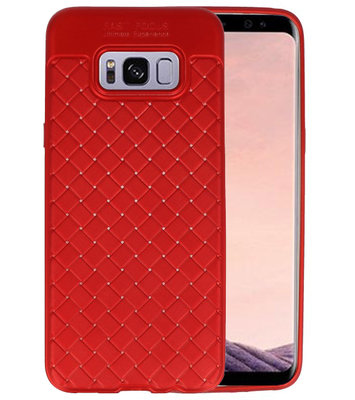 Rood Geweven TPU case hoesje voor Samsung Galaxy S8 Plus