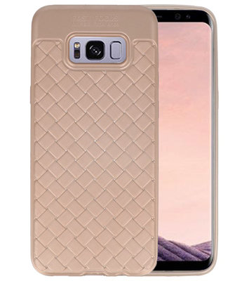 Goud Geweven TPU case hoesje voor Samsung Galaxy S8 Plus