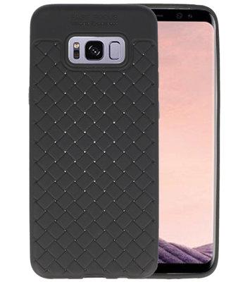 Zwart Geweven TPU case hoesje voor Samsung Galaxy S8 Plus