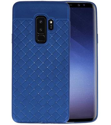 Blauw Geweven TPU case hoesje voor Samsung Galaxy S9 Plus
