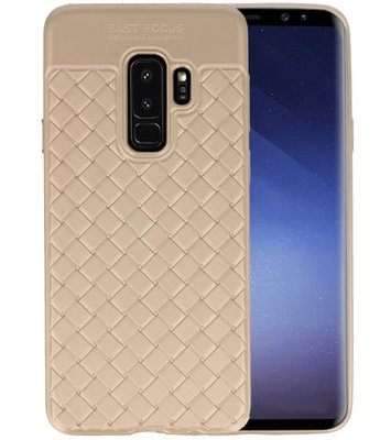 Goud Geweven TPU case hoesje voor Samsung Galaxy S9 Plus