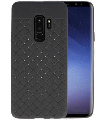 Zwart Geweven TPU case hoesje voor Samsung Galaxy S9 Plus