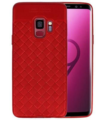 Rood Geweven TPU case hoesje voor Samsung Galaxy S9