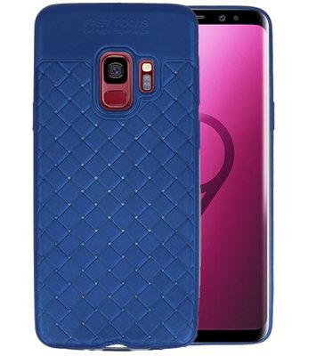 Blauw Geweven TPU case hoesje voor Samsung Galaxy S9