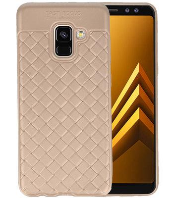 Goud Geweven TPU case hoesje voor Samsung Galaxy A8 2018