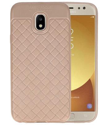 Goud Geweven TPU case hoesje voor Samsung Galaxy J5 2017
