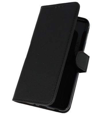 Zwart booktype wallet case Hoesje voor Samsung Galaxy J7 2018