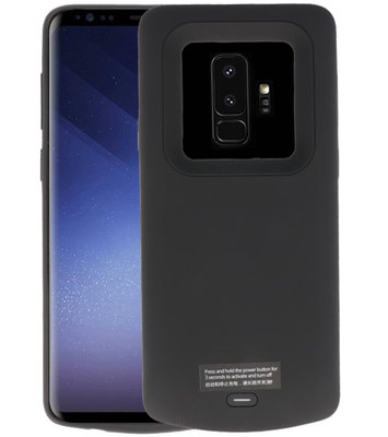 Zwart smart batterij Hoesje voor Samsung Galaxy S9 Plus