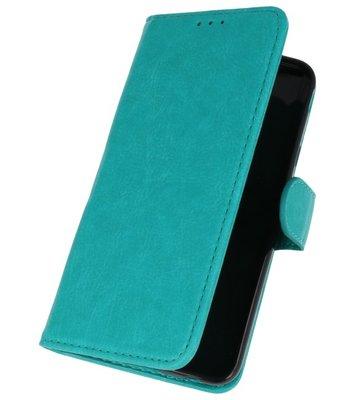 Groen booktype wallet case Hoesje voor Samsung Galaxy J7 2018
