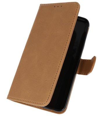Bruin booktype wallet case Hoesje voor Samsung Galaxy J7 2018