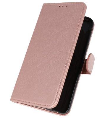 Roze booktype wallet case Hoesje voor Samsung Galaxy J7 2018