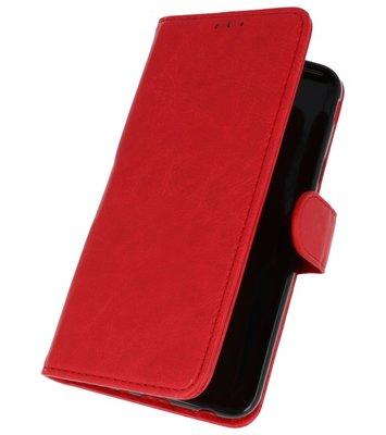 Rood booktype wallet case Hoesje voor Samsung Galaxy J7 2018