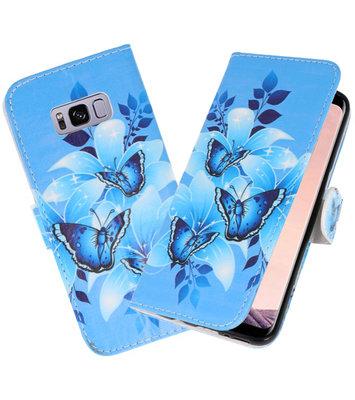 Vlinder booktype wallet case Hoesje voor Samsung Galaxy S8