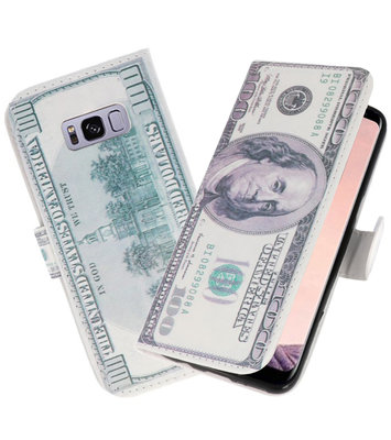 Dollar booktype wallet case Hoesje voor Samsung Galaxy S8