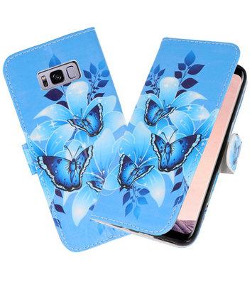 Vlinder booktype wallet case Hoesje voor Samsung Galaxy S8 Plus